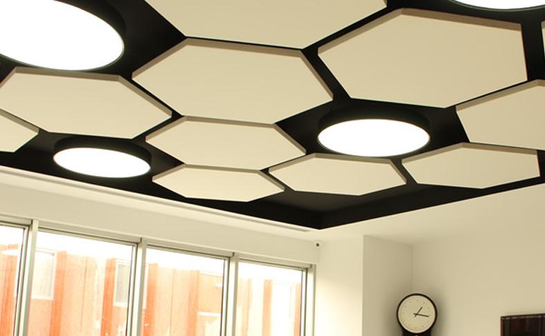 Altıgen sarkıt yüzer tavan paneli