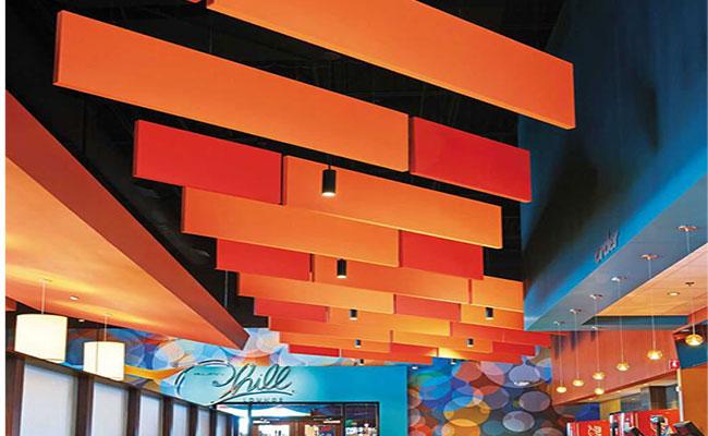 Baffle sarkıt yüzer tavan paneli