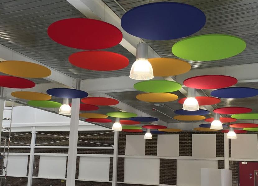 Dairesel sarkıt yüzer tavan paneli