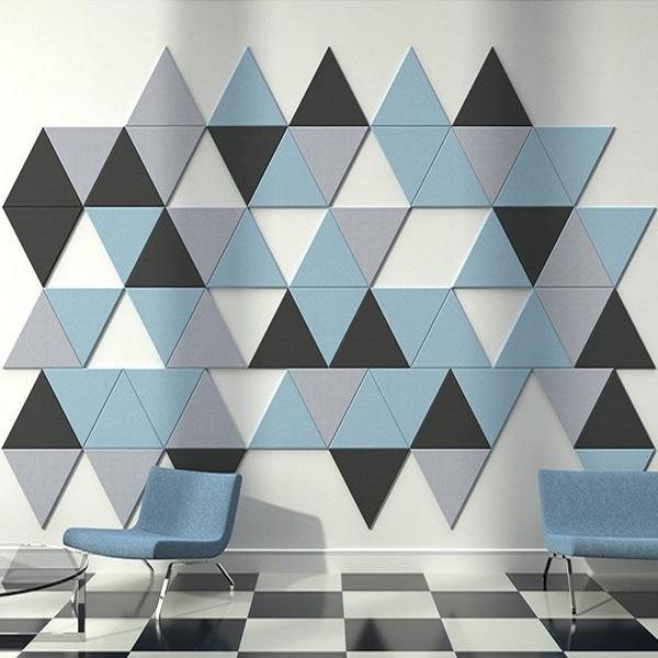 üçgen akustik keçe panel